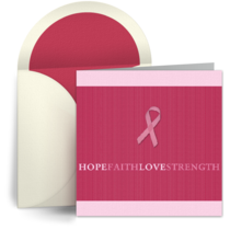 Square Pink Ribbon card image