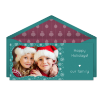 Whimsical Snow Frame card image