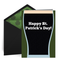 St. Patrick's Day Pint card image