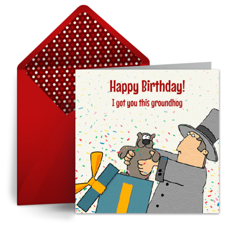 Official groundhog day cards free groundhog day ecards greeting groundhog day birthday m4hsunfo