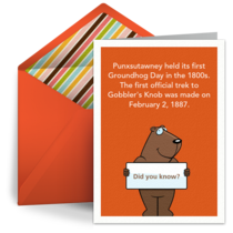 The First Groundhog Day card image