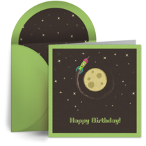 Shoot for the Moon Birthday card image