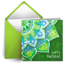 Green Petals card image