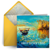 Boat Painting card image