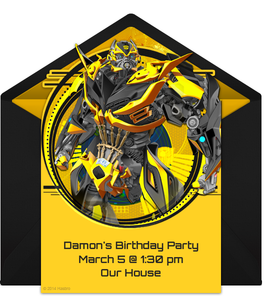 Printable Transformers Birthday Party Invitations