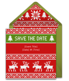 Christmas Save The Date.Party City