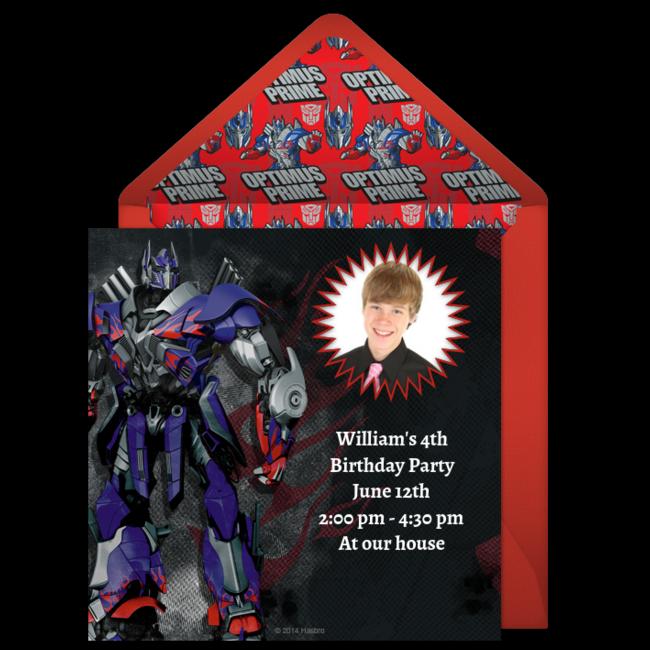 Digital Transformers Invitations Customize Online