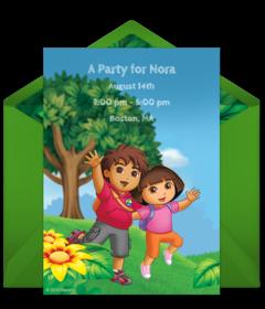 Digital Dora The Explorer Invitations Customize Online