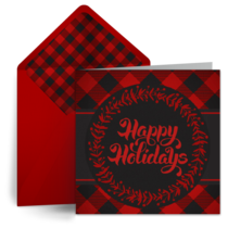 Buffalo Plaid Christmas card image
