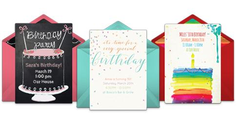 Free Birthday Stationary ~ Free birthday invitations & online invites punchbowl