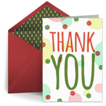 Holiday Thank You Festive Dots card image