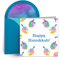 Colorful Dreidel Pattern card image