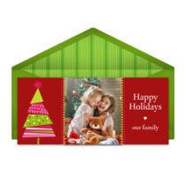 Cut Out Holiday Tree card image