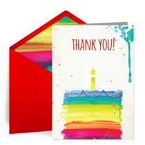 Colorful Birthday Thank You Notes