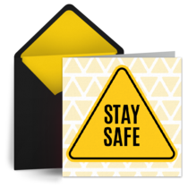 Stay Safe Sign card image