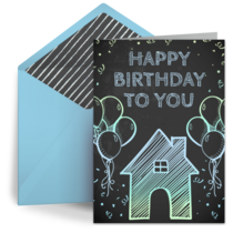 His Birthday from Home card image