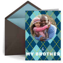 Brothers Day Photo card image