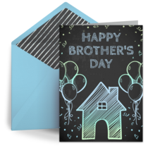 Brother's Day Chalkboard card image