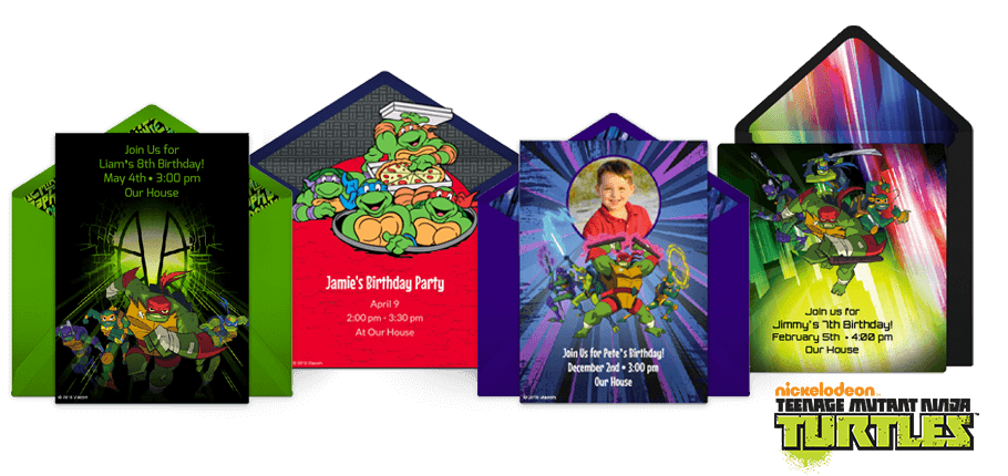 Free Ninja Turtles Invitations Teenage Mutant Online