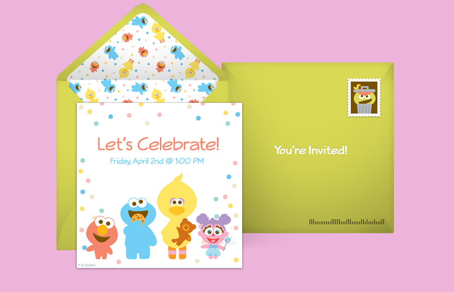 Elmo Party Invitations Template Free Sesame Street Online