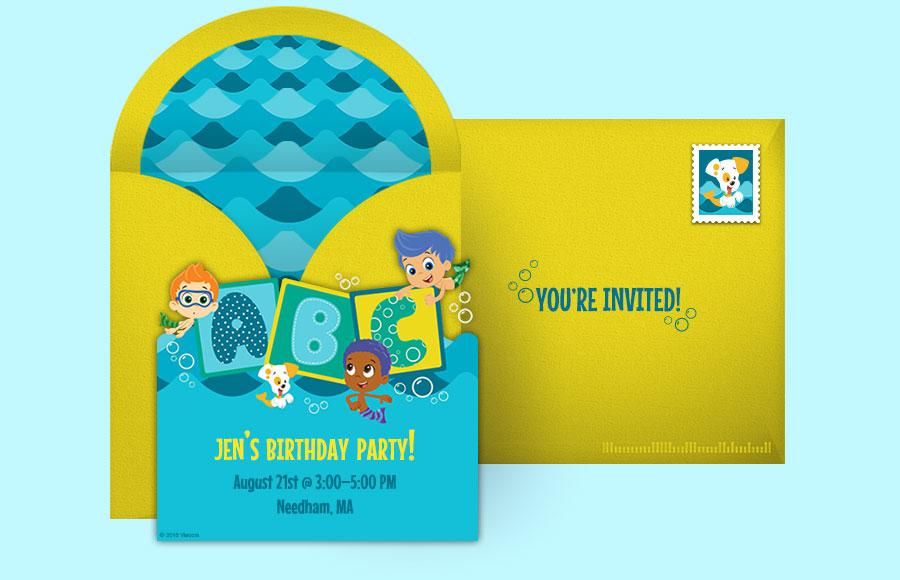 Free bubble guppies invitations bubble guppies online invitations plan a bubble guppies party maxwellsz