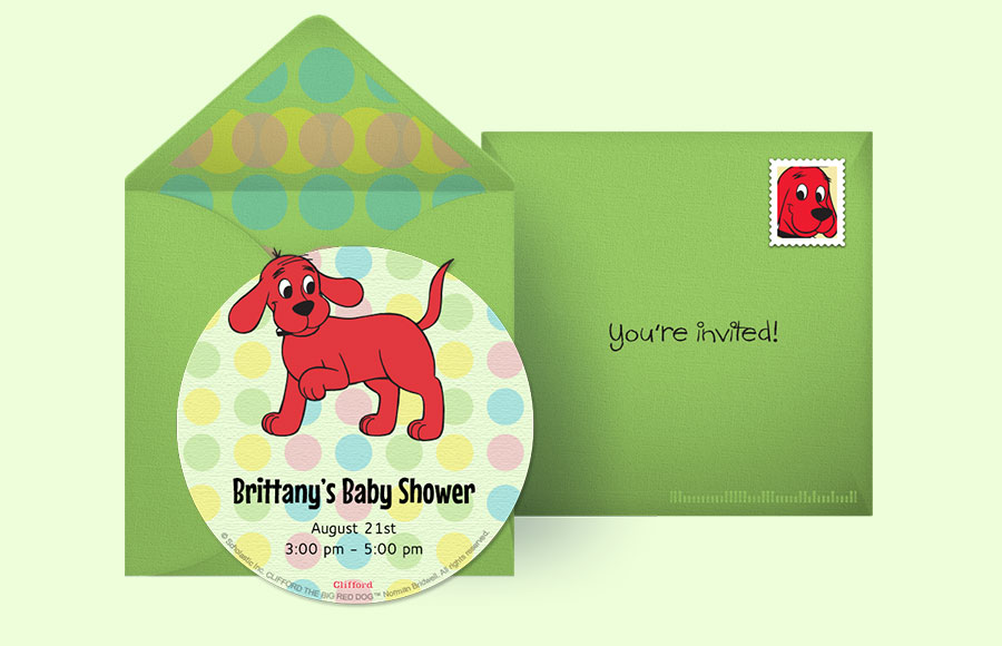 Clifford The Big Red Dog Baby Shower