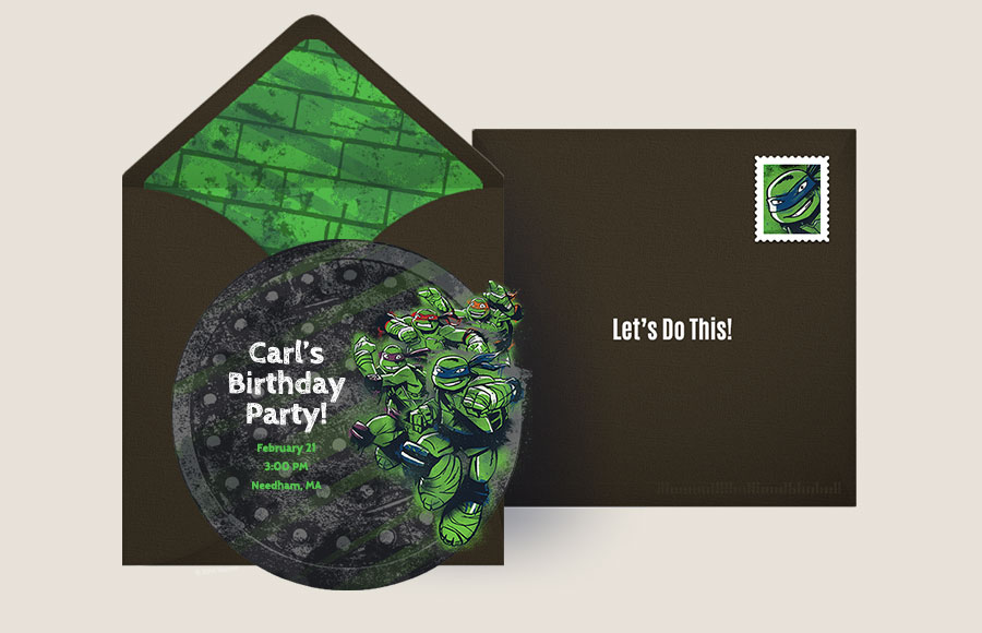 Plan a TMNT Sewer Cap Party!