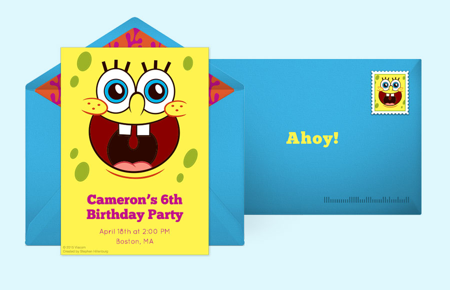 Free spongebob invitations spongebob squarepants online invitations plan a spongebob squarepants party filmwisefo