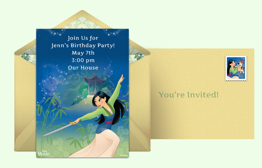 Plan a Mulan Party!
