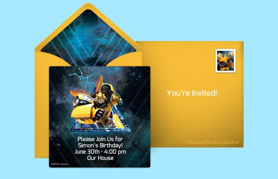 Free Transformers Invitations Online